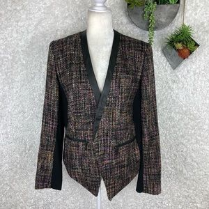 Lane Bryant Pink & Black Tweed Bouclé Blazer | 20